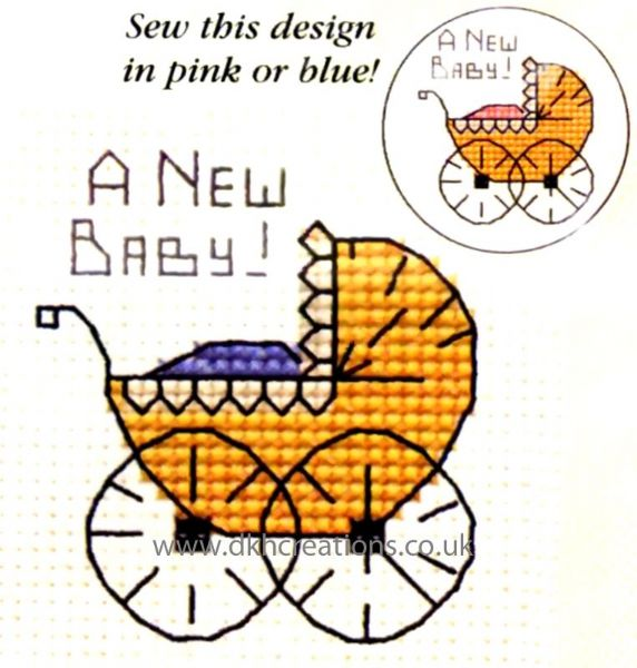 A New Baby Card Cross Stitch Kit